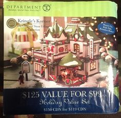 Dept 56 Snow Village Limited Numbered Edition NIB Neil/'s TV /& Repair