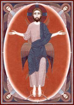 Witnesses Christ the Redeemer contemporary icon | Nikola Saric