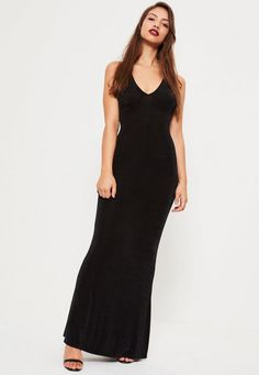 Refresh your wardrobe in time for the party season with this black maxi dress - featuring cross back deets and a cowl front.