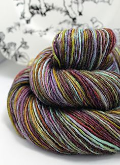 Handspun Yarn Gently Thick and Thin Single DK by SheepingBeauty, $38.00