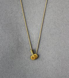 petite gold necklace by amerrymishap on Etsy, $28