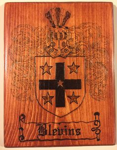 Family Crests Wood Burned Family Crest Plaques Coat of Arms