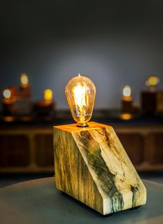 Handmade lamps by Donald Waller