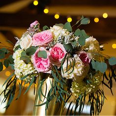 denver wedding florist, colorado florist, destination wedding florist, rustic wedding flowers, tall centerpiece, blush  centerpiece gold - www.bellacalla.com - Bella Calla - Denver Vail Aspen Florist