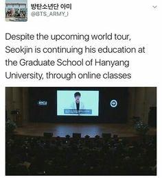 His speech though. AND THE FLYING KISS AT THE END Seokjin, Hoseok, Namjoon, Jimin, Bts Jin, Vkook Memes, Bts Texts, About Bts, Kpop