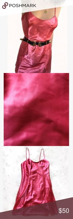 PINK VINTAGE DRESS VINTAGE Pink Satin Slip or Dress or Nighty! Size Small! Amazing condition, fantastically cleaned. Super similar Dress on sale for 60 dollars without shipping on princess Polly! This totally gives off My Date W/ The Presidents Daughter movie vibes from Disney! Her pink dress 😍 Regardless comment if you remember that movie Dresses