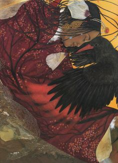 """Anne Romby, illustration for """"L'Oiseau Magique"""" (""""The Magic Bird"""") by Yveline Féray"""