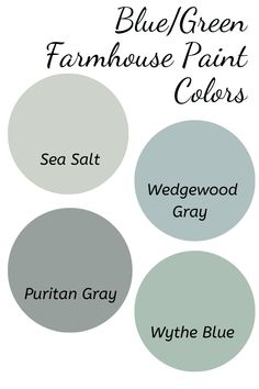 The best farmhouse paint colors for your home. I listed some of the best white, gray, blue and greige farmhouse paint colors that will look beautiful in any room in your home Blue Gray Paint Colors, Blue Green Paints, Light Blue Paint Colors, Greige Paint Colors, Light Blue Paints, Warm Paint Colors, Neutral Paint, Dining Room Paint Colors, Farmhouse Paint Colors