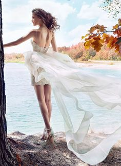 Short Wedding Dress Papilio Boho Wings Of Love Collection