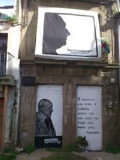 Homenagem a Carvalho Calero na sua casa natal, em Ferrol (Galiza). 25 de março de 2012