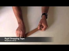 How to Handle Rigid Sports Strapping Tape