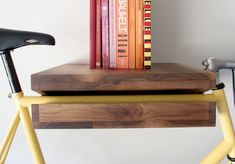 Bike-rack Shelf; perfect for the husbands bikes, functional and stylish!