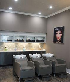 Salons of the Year 2017 Meraki Hair Studio - Awards Contests - Salon Today Home Beauty Salon, Home Hair Salons, Hair Salon Interior, Beauty Salon Decor, Salon Interior Design, Beauty Salon Design, Home Salon, Hair And Beauty Salon, Nail Salon Decor