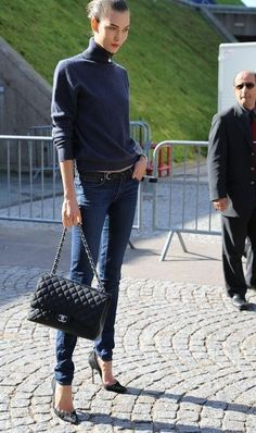The Simply Luxurious Life®: Style Inspiration: Casual Chic Comfort Look Fashion, Fashion Design, Fashion Trends, Fall Fashion, Karlie Kloss, Models, Looks Style, Street Chic, Casual Chic