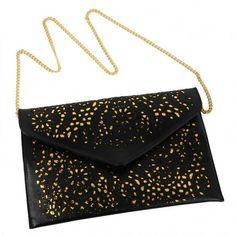 New Fashion Womens Vintage Hollow Out Envelope Clutch Shoulder Cross Bag