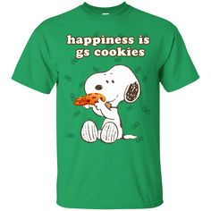 Snoopy - Happiness Is GS Cookies Scouting T Shirts – Gift for Crush Girl Scout Cookie Sales, Girl Scout Cookies, Girl Scout Troop, Girl Scouts, Gs Cookies, Scouting, Quick Easy Meals, Snoopy, Happiness
