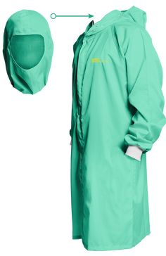 ESD Lab Coat Clean Room With Integrated Hood Fabric 099 Smock ESD Safe Anti Static Turquoise Unisex 4XS Dental Scrubs, Safety Clothing, Lab Coats, Medical Uniforms, Scrub Tops, Outfit Posts, Leather Fashion, African Fashion, Smocking