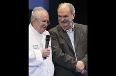 Juan Mari Arzak and Luis Irizar, chefs whom I admire hugely!