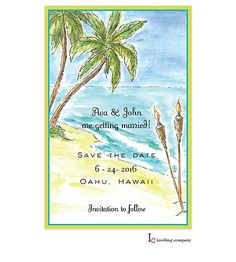 Tiki Beach Invitation