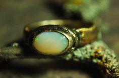Fine Silver Opal Ring - Size 7. $90.00, via Etsy.