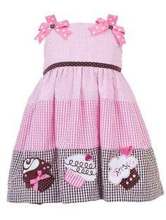 Cupcake dress, how cute! Cute Little Girls Outfits, Kids Outfits, Cute Baby Girl, Cool Girl, Little Girl Dresses, Girls Dresses, Lisa, Seersucker Dress, Handmade Dresses
