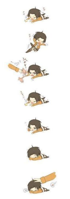 Levi? Being cute? ...Eh, Levi has done weirder things.