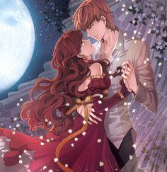 romantic anime couple
