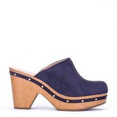 Zuecos Weekend by Pedro Miralles en serraje azul marino #shoes #ss16 #inspiration  #shoeporn #sandals #zapatos #moda #calzado #madeinspain #zuecos #clogs