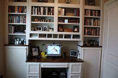 Custom Made Built-In Desk & Bookcases
