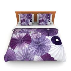 Found it at Wayfair - Lavender Wishes by Heidi Jennings Woven Duvet Cover
