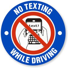 Officers Struggle to Enforce Texting While Driving Laws. Don't Text and Drive Texting While Driving, Distracted Driving, Driving School, Driving Tips, Dont Text And Drive, Put The Phone Down, Send Text, Housekeeping Tips, Free Text
