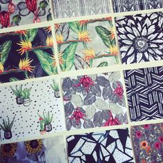New patterns soon to be available as fabric by the metre! 🌺🌵🍃