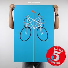 Design #7 - Go With The Wind.  Now left only 5 copies at www.100copies.net  $50 USD  #100copies #bicycleart #poster #print #bikeart #fixie #fixedgear #minimal #graphic #limitededition #velo #art #singlespeed #bike #bicycle #cycling #illustration #cycle #roadbike #screenprint #singapore #fixiegram #beautiful #artoftheday #artsy #blue