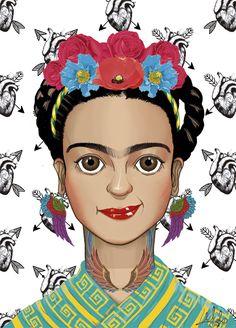 Qinni, Frida Kahlo Portraits, Princess Zelda, Disney Princess, Hair Bows, Cute Girls, Folk Art, Disney Characters, Fictional Characters