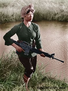 Female Viet Cong Guerilla Mekong Delta 1972