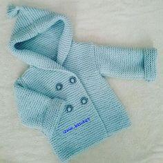 Sezonun ilk bebek ceketi bitti....cok da guzel oldu...gule gule giysin bebegimiz