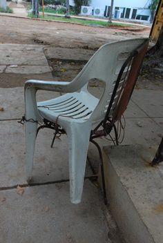 Around the World in 80 Chairs: Plastic/Steel Chair - Havana, Cuba
