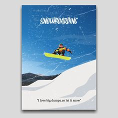 Snowboarding poster artwork design by Cocographic for your homegoods Available now at displate Let It Snow, Let It Be, Artwork Design, Snowboarding, My Love, Books, Poster, Snow Board, My Boo