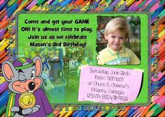 I Recently Went To Chuck E Cheese And Had The Opportunity To - Chuck e cheese birthday invitation template