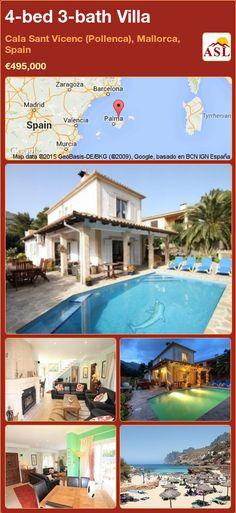4-bed 3-bath Villa in Cala Sant Vicenc (Pollenca), Mallorca, Spain ►€495,000 #PropertyForSaleInSpain