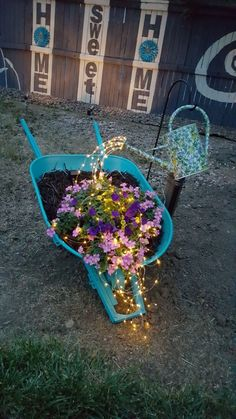 Watering Can With Fairy Lights Things I Ve Made Solar