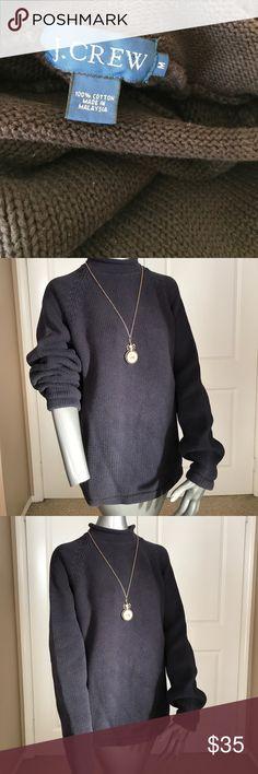 J Crew Cotton Sweater Mock turtleneck sweater in all cotton comfort. It's heavyweight knit. J. Crew Sweaters Cowl & Turtlenecks