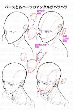 """""""How to draw the face in high angle view : Awkward part of face and the correcting method②"""" Drawing Reference Poses, Drawing Skills, Drawing Lessons, Drawing Poses, Figure Drawing, Drawing Tips, Hand Reference, Anatomy Reference, Anatomy Drawing"""