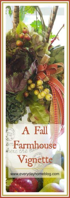 Creating a Fabulous Fall Farmhouse Vignette | The Everyday Home | www.everydayhomeblog.com