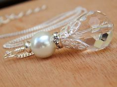 Pearl Bridal Necklace Beaded bridal Necklace by SheJustSaidYes, $19.00