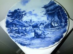 Delft Blauw Hand Decorated Plate Sheep Shearing by LucysMother, $15.00