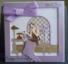 Card made using the new Art Deco collection