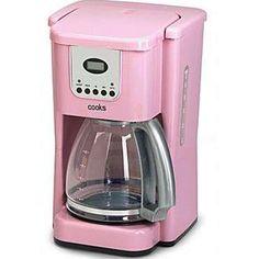 Cooks pink coffee pot - I have this in storage for the day I design my pink kitchen :) Pink Kitchen Appliances, Kim's Kitchen, Copper Kitchen, Kitchen Decor, Pink Kitchens, Kitchen Dishes, Kitchen Colors, Kitchen Stuff, Coffee Machine