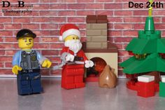 Santa should have known better than enter the police station via the chimney. Last day of the Lego City advent calendar.