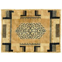 French Art Deco Rug Circa 1930 | From a unique collection of antique and modern more carpets at https://www.1stdibs.com/furniture/rugs-carpets/area-rugs-carpets/